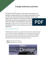 Future Web Design Conferences and Events