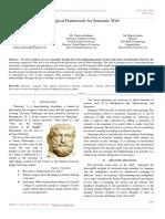 Ontological Framework for Semantic Web