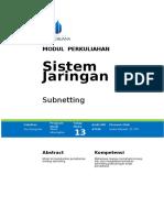 87038 - Modul13 - Subnetting