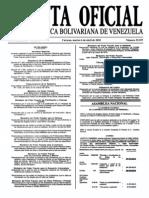 Sumario Gaceta Oficial 39.397