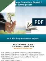 HCR 230 Help Education Expert - Hcr230help.com