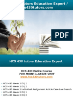HCS 430 Tutors Education Expert - Hcs430tutors.com