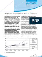Eurostat - Statistics in focus 70/2008 - Short-term business statistics - focus on employment