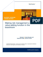 2 Making Risk Management a Valueadding Function in the Boardroom