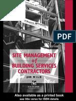 Site Management of Building Services Contractors_1