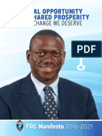 Uganda - FDC Manifesto 2016