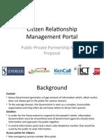 Citizen Relationship Management Portal - Pilot Proposal v04
