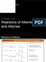 Ch05 Reactions of Alkenes and Alkynes