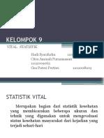KELOMPOK 9 Vital Statistik