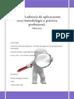 Auditoría de Aplicaciones Web