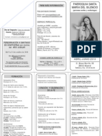 Tríptico Programa Abril-Junio 2010