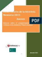 Observatorio de la bicicleta de Vitoria-Gasteiz - Analisis de Comportamiento Ciclista 2015