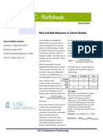 3.2 Risk Rate Measures Cohort Studies