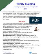 Trinity Training Newsletter 2016