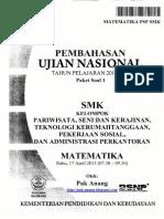 Pembahasan Soal UN Matematika SMK PSP 2013 Paket 1