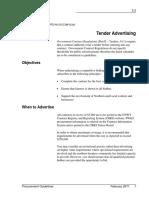 3.3 Tender Advertising