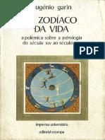 GARIN, Eugenio - O Zodíaco Da Vida