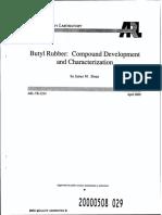 Butyle Rubber - Compound Development & Characterisation