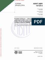 Abnt 14725-4 - Fispq