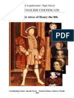 The six wives of Henry the 8th