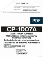Onkyo Cp-1007a Bedienungsanleitung