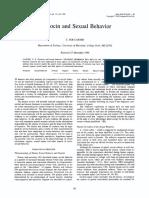 Oxytocin and Sexual Behavior