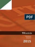 TU lankide urtekaria / anuario 2015