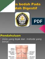 Akses Bedah Pada Bedah Digestif 2013