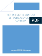 Rethinking the Conflict Between Agency and Cohesion