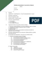 Reglamento de sst clinica