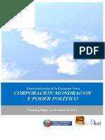 Democratizacion de la Economia Vasca. CORPORACION MONDRAGON Y PODER POLITICO