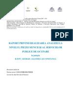 5.2. Raport Privind Realizarea Analizei La Nivelul Pietei Muncii Si a Serviciilor Publice de Ocupare
