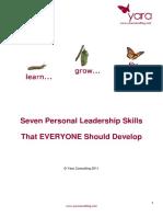7 Personal Leadership Skills