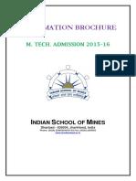 ISM M Tech Brochure 3