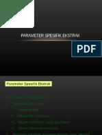 Parameter Spesifik