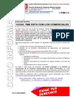 2016 01 14 COMUNICADO CCOO Con Los Comerciales
