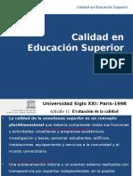 Calidad en La Educación Superior 5.Nov.2015
