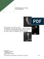 Catholic Emancipation, 1823-1829