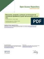 Ssoar Elagora 2015 1 Cuesta Moreno Educacion Presente y Potencia La