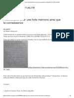 Recette Pour Avoir Une Forte Mémoire Ainsi Que La Connaissance _ RELIGION ET SPIRITUALITÉ