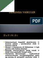 Demensia Vaskuler . 2 Mei 2013