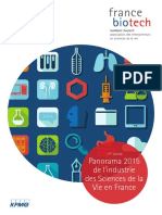 Panorama 2015 de l'Industrie Des Sciences de La Vie en France®