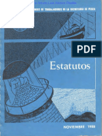 Estatutos del Sindicato Único de Trabajadores de la Secretaría de Pesca