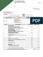Sponsorship Invoice
