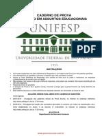 Caderno de prova para tecnico em assuntos educacionais