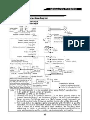 [XOTG_4463]  Mitsubishi Freqrol e500   Power Inverter   Power Supply   Wiring Diagram Inverter Mitsubishi      Scribd