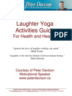 Laughter Yoga Activities Guide Courtesy of Peter Davison