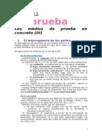 La prueba en el derecho procesal civil español
