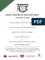 Crux Menus