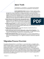 OPM Migration Overview and Business Needs